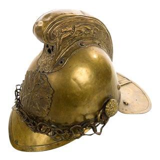 19th century Fire Fighter English Brass Helmet