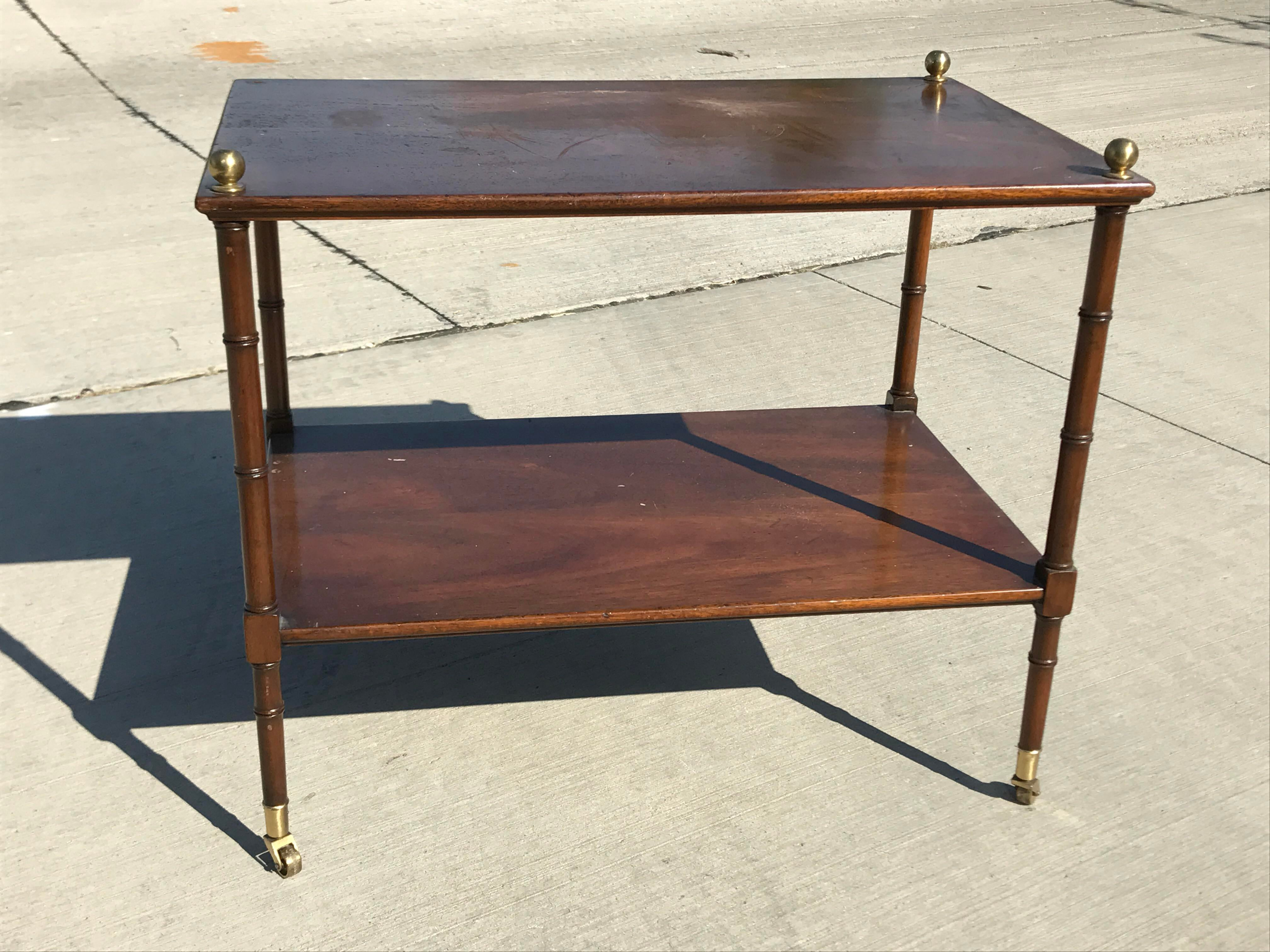 Kittinger Faux Bamboo Serving Tray Table   Image 4 Of 8