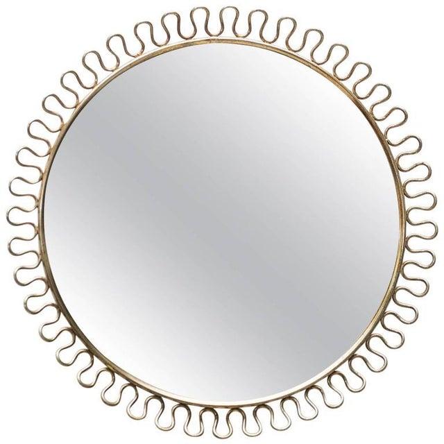 Sculptural Brass Loop Mirror by Josef Frank for Svenskt Tenn Sweden, 1950s - Image 5 of 5