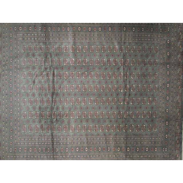 """Image of Royal Bokara Green & Red Rug - 11'9"""" x 9'5"""""""