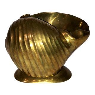 Vintage Brass Shell Ashtry