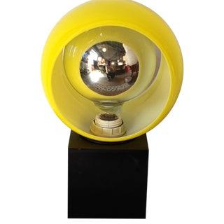 Retro Yellow Cube Desk Lamp