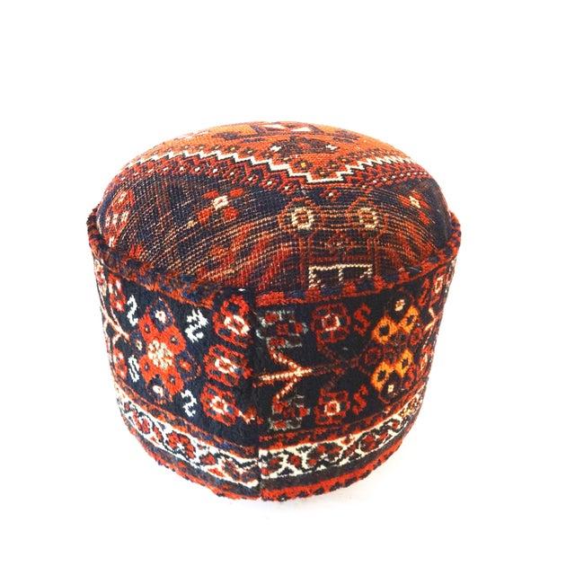 Antique Tribal Qashqa'i Upholstered Ottoman - Image 4 of 6