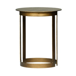 Round Brass End Table