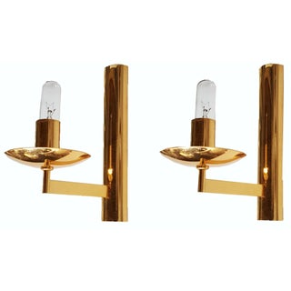 Vintage Italian Brass Sconces by Sciolari - Pair