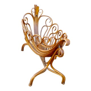 19th century beautiful curvy swinging baby Cradle