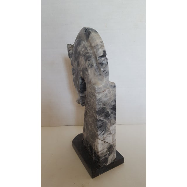 Charcoal Marble Horsehead Bookend - Image 4 of 4