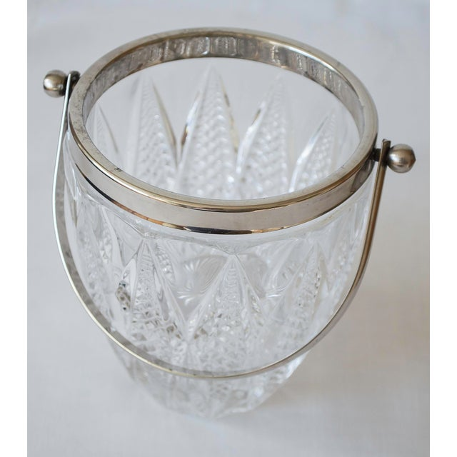Image of Vintage Crystal and Silver Platted Ice Bucket