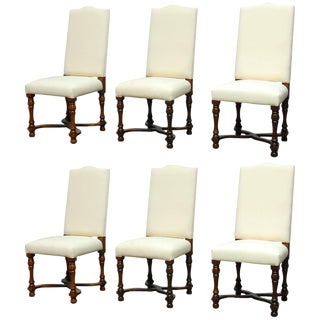 Louis XIV French Carved Dining Chairs - Set of 5