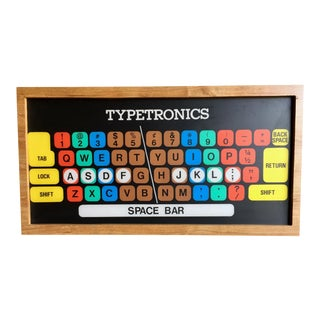 1960s Vintage Typetronic Animated Light Up Teaching Display for IBM