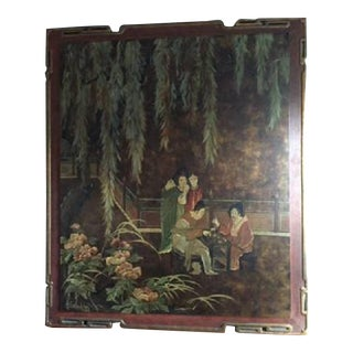Lucien Leinfelder Chinoiserie Painted Panel