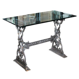 Fabulous Polished French Cast Iron Bistro Tables