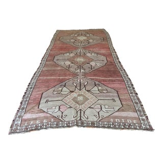 "Antique Turkish Oushak Runner - 5'7"" X 13'5"""