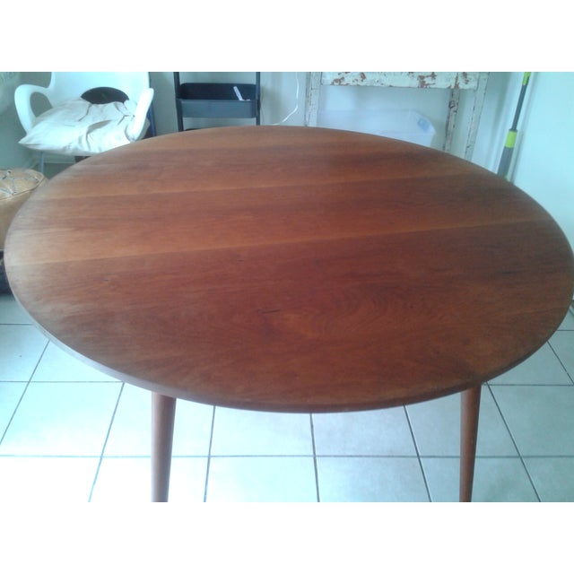 Thos Moser Round Dining Table - Image 2 of 10