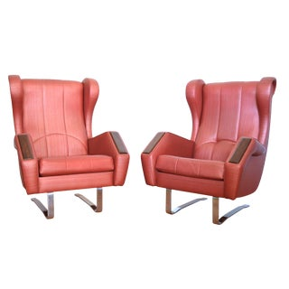 Italian Mid-Century Modern Space Age Chairs - Pair