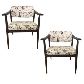 Danish MidCentury Chinoiserie Hummingbird Chairs - A Pair