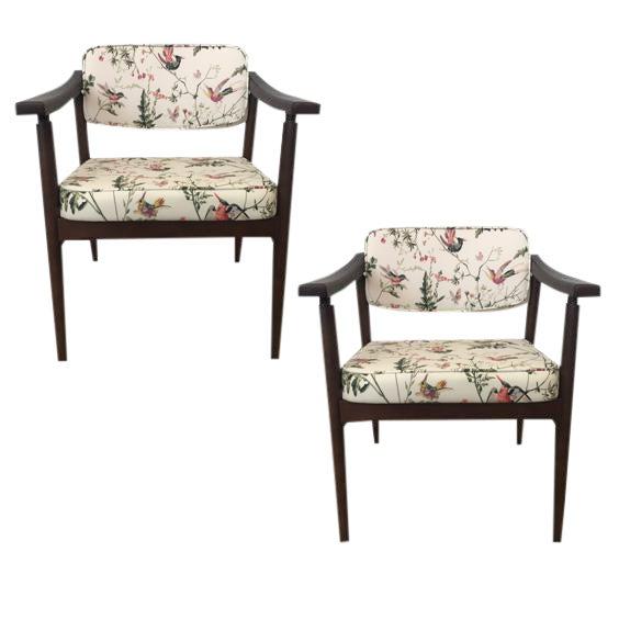 Image of Danish MidCentury Chinoiserie Hummingbird Chairs - A Pair