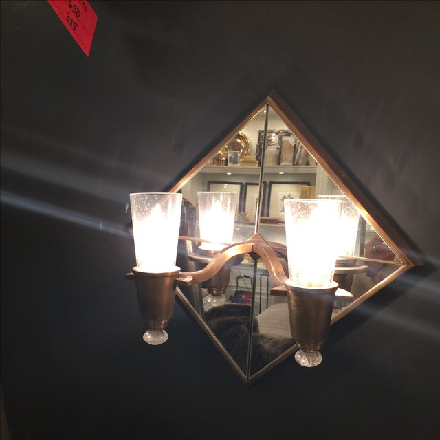 Double Arm Mirrored Sconce - New - Image 3 of 9