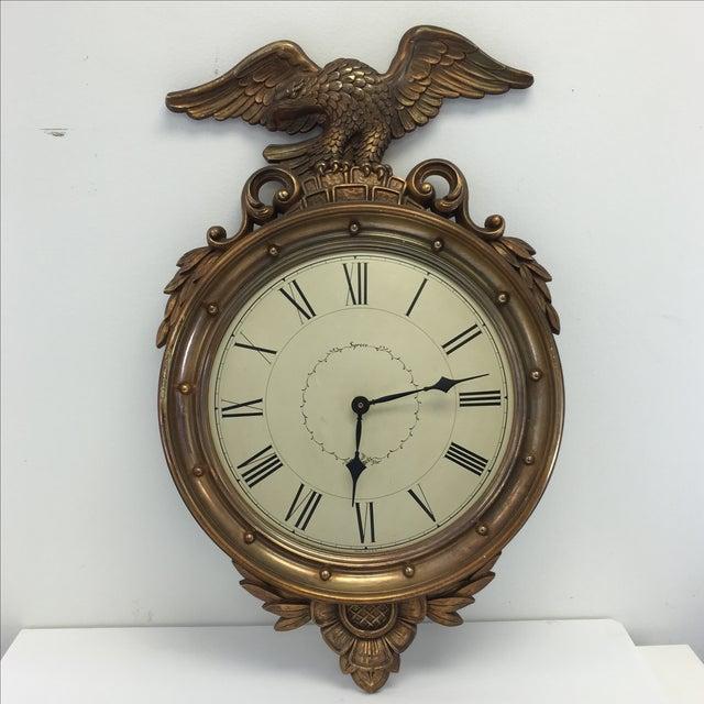 Image of Vintage Federal Eagle Wall Clock