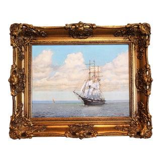 T L Storey Clipper Ship Marine Oil Painting