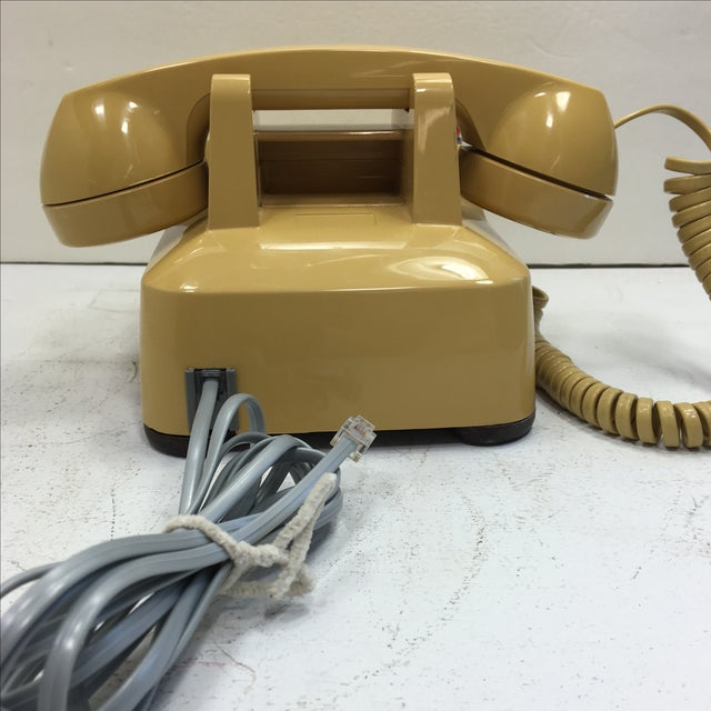 Yellow 500 Rotary Dial Desk Phone With Light - Image 5 of 11