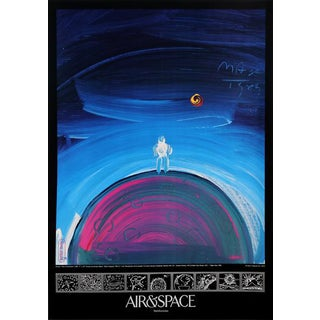 "1989 Peter Max ""Air & Space (Man on the Moon)"" Poster"