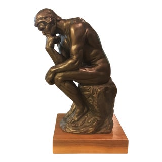 Austin Productions Inc. Rodin Thinker Bronze Statue