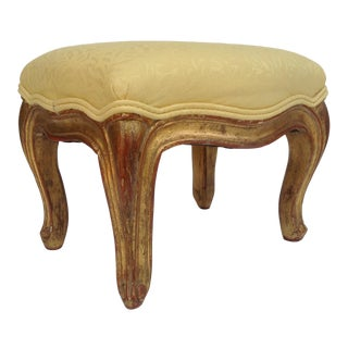 Vintage French Gilt Carved Foot Stool