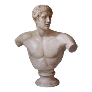 Vintage Bust of a Roman Athlete