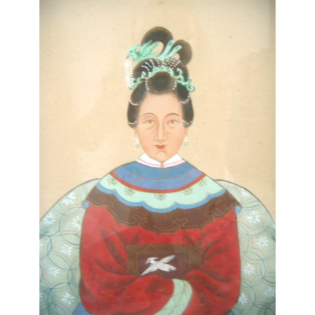 Image of Fine Chinese Ancestor Portrait Paintings - Pair
