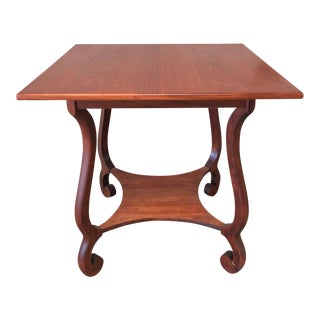 Mid-Century Empire Style Library Table