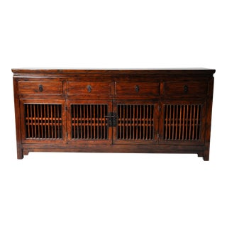 Chinese Spindle Door Cabinet with Restoration