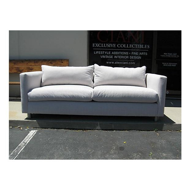 Image of Mid-Century Modern Canvas Sofa