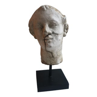 Small Plaster Bust on Stand