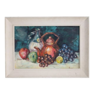 Still Life With Teapot Oil Painting