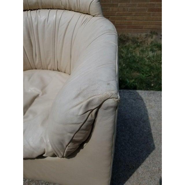 John Saladino for Baker Leather Swivel Lounge Chair - Image 7 of 11