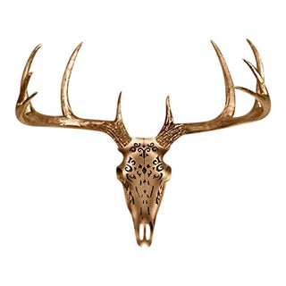 Wall Charmers Bronze Faux Taxidermy Deer Skull Wall Mount