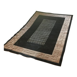 "Black and Natural Contemporary Rug - 4'10"" X 7'10"""