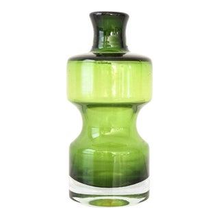 Mid Century Modern Green Glass Vase