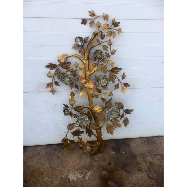 Painted Metal Tree Branch Wall Sculpture Chairish