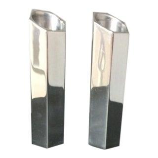 Nambe Studio Metal Candleholders - A Pair