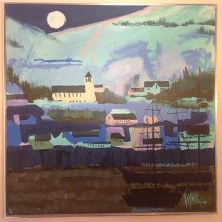 Lee Reynolds Original Blue Skies Ships Painting