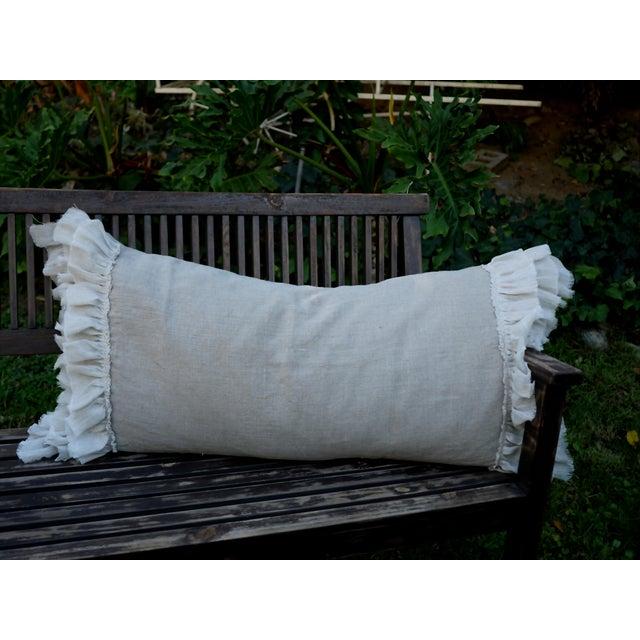 Image of Triple Ruffle Lumbar Pillow