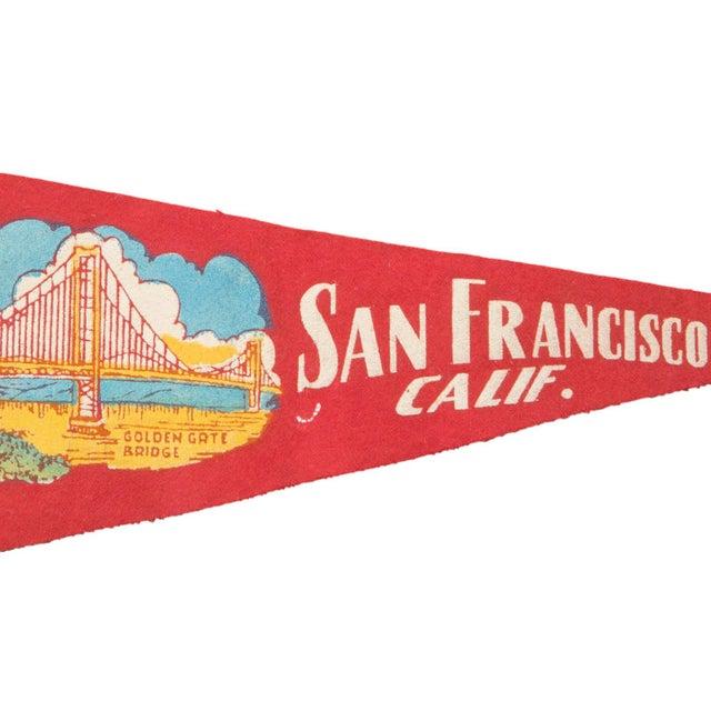 Vintage San Francisco Felt Flag Banner - Image 2 of 2