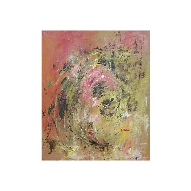 Image of E. Miller Blushing Abstract Painting