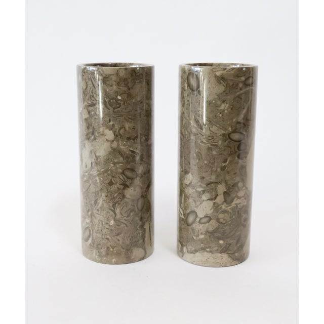 Stone Vases - a Pair - Image 2 of 5