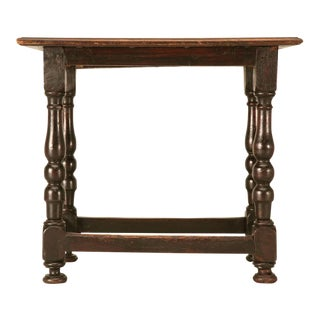 Incredible Early 18th C. Original Rustic French Side/End Table