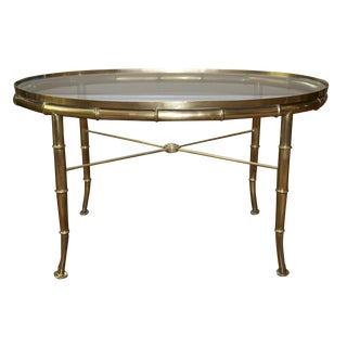Mastercraft Brass Bamboo Coffee Table