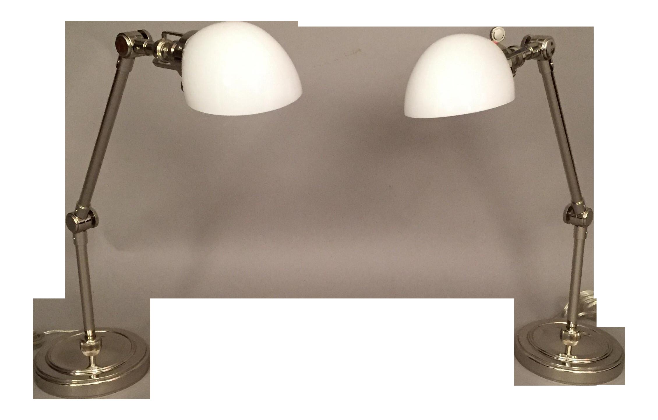 restoration hardware desk lamps a pair