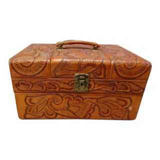 Tooled Leather Dressing Case